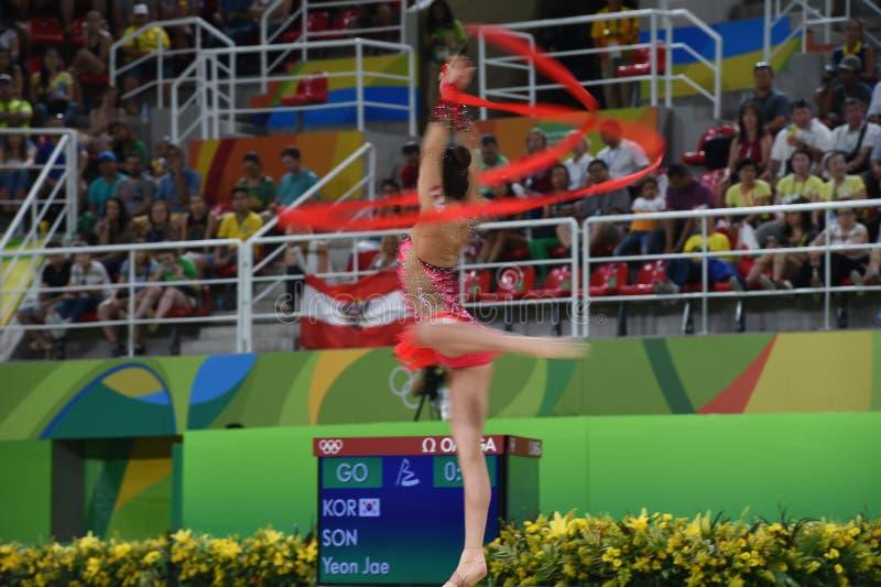 rytmisk gymnastik arkivbilder