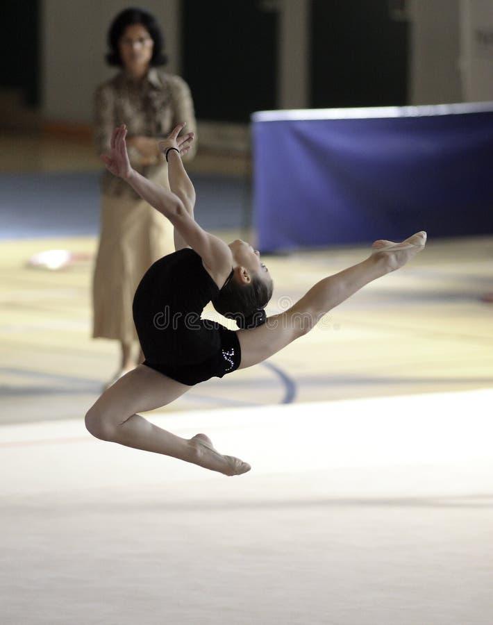 rytmisk gymnastik arkivfoton