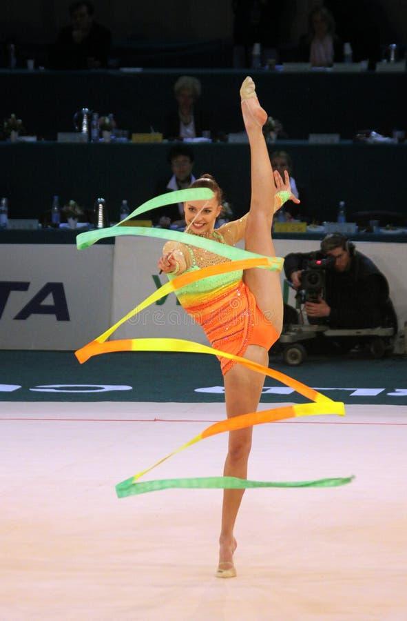 rytmisk värld för koppgymnastik arkivfoton