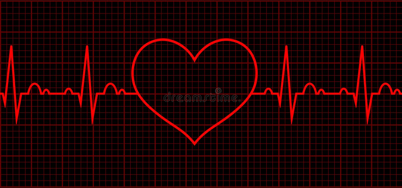 rytmu serce kardiogram Sercowy cykl royalty ilustracja