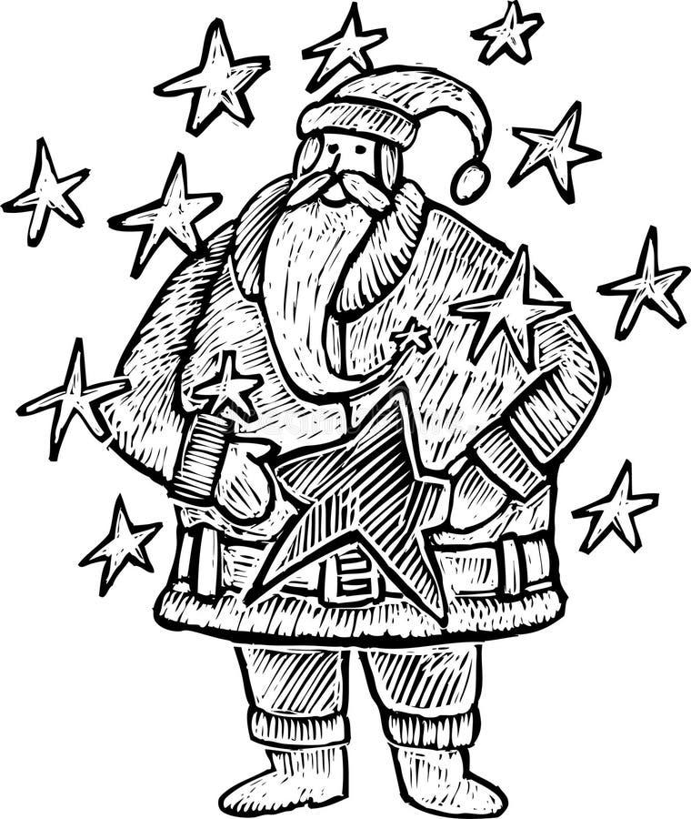 Rytownictwo Święty Mikołaj ilustracja wektor