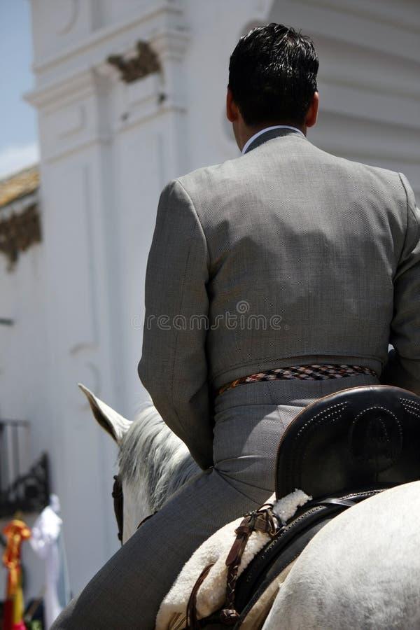Ryttare på häst royaltyfri bild