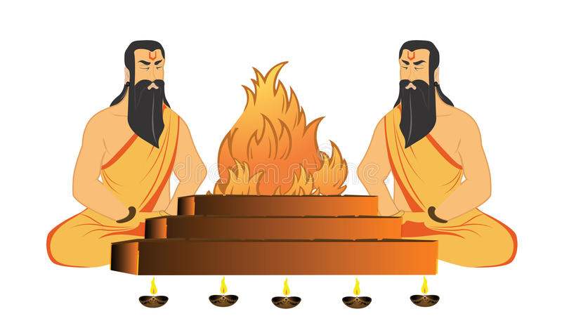 rytuałów święty royalty ilustracja