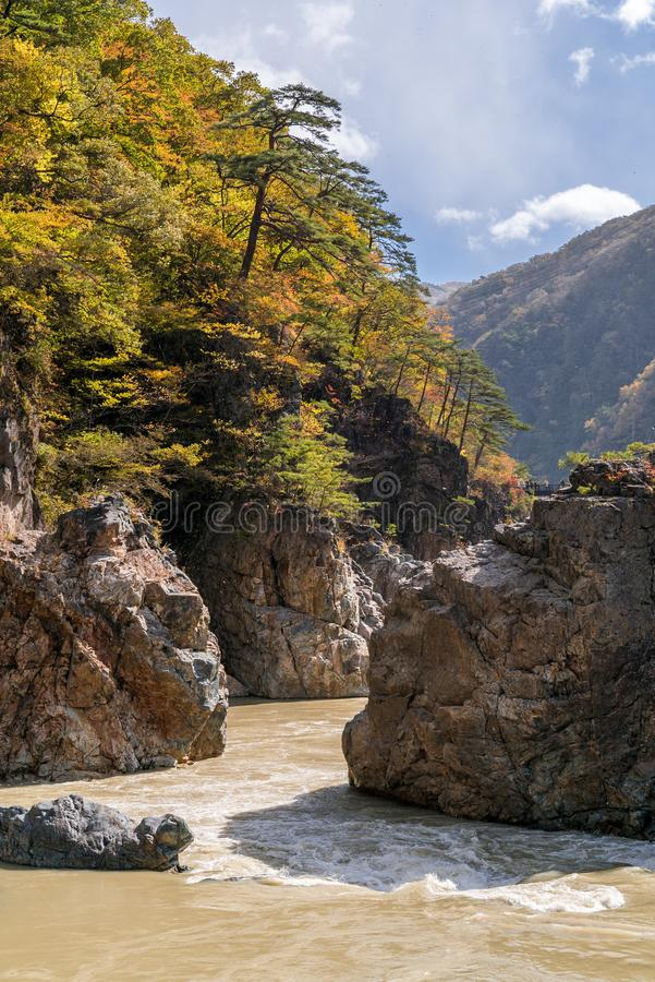 Ryuyo Gorge canyon Nikko Japan stock photo