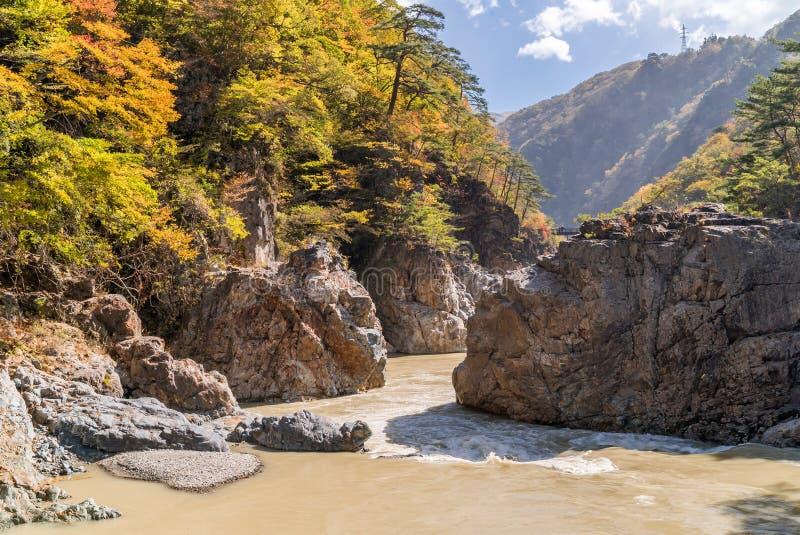 Ryuyo Gorge canyon Nikko Japan stock photos