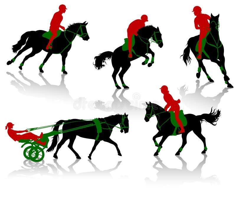 rywalizacja konie ilustracji
