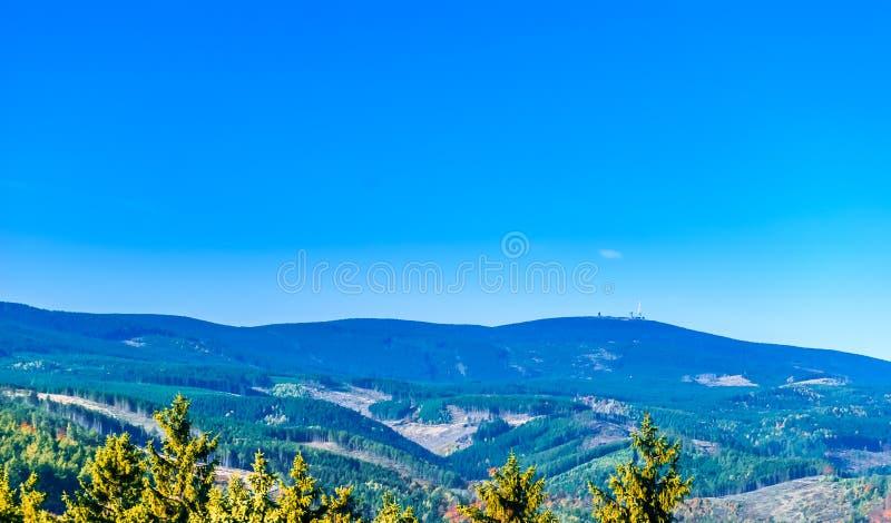 Rywalizuje od Wernigerode Brocken w Harz górze obrazy royalty free