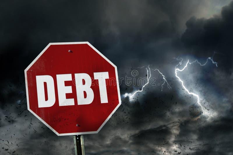 Ryzyko dług obrazy stock