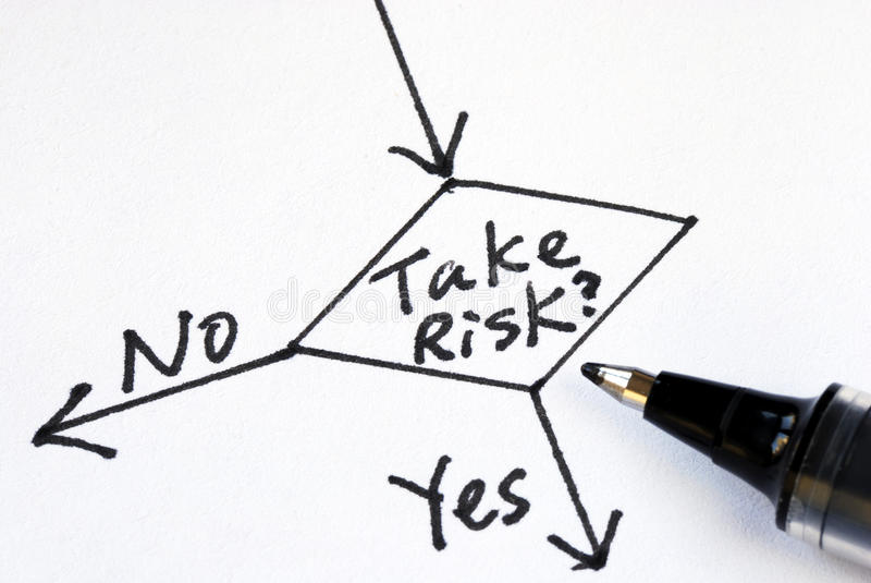 ryzyko nie wp8lywy obraz stock