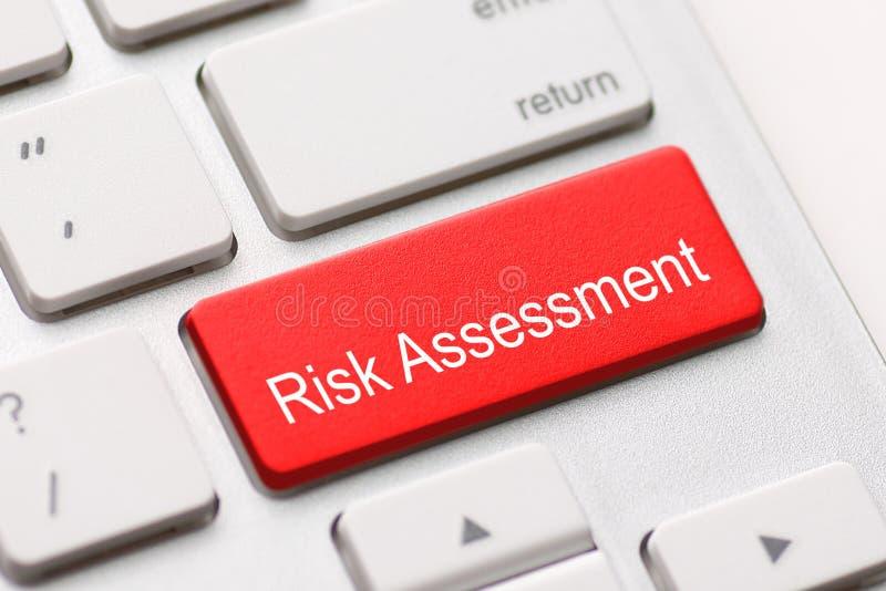 Ryzyko ocenia ocena projekta rynku klawiaturowego guzika zdjęcia royalty free