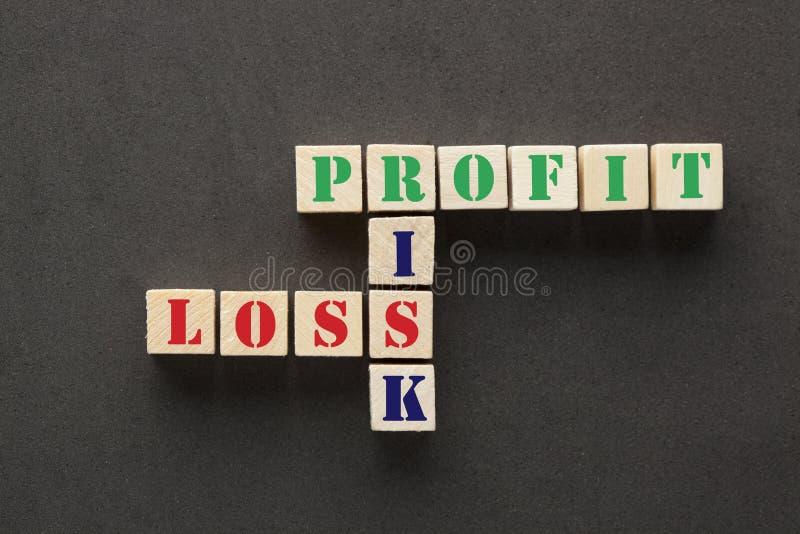 Ryzyko, zysk i strata, zdjęcia stock