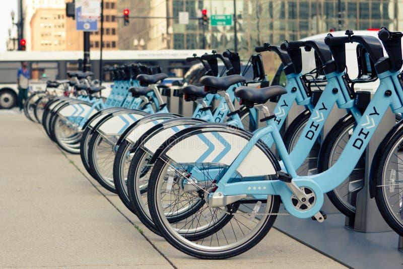 Rząd bicykle zdjęcie royalty free