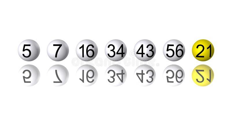 rząd loterii liczby jaj royalty ilustracja
