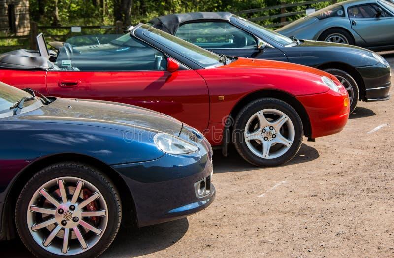 Rząd MG sportów samochody zdjęcie royalty free