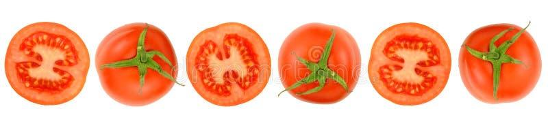 Rząd Rżnięci Świezi pomidory fotografia royalty free