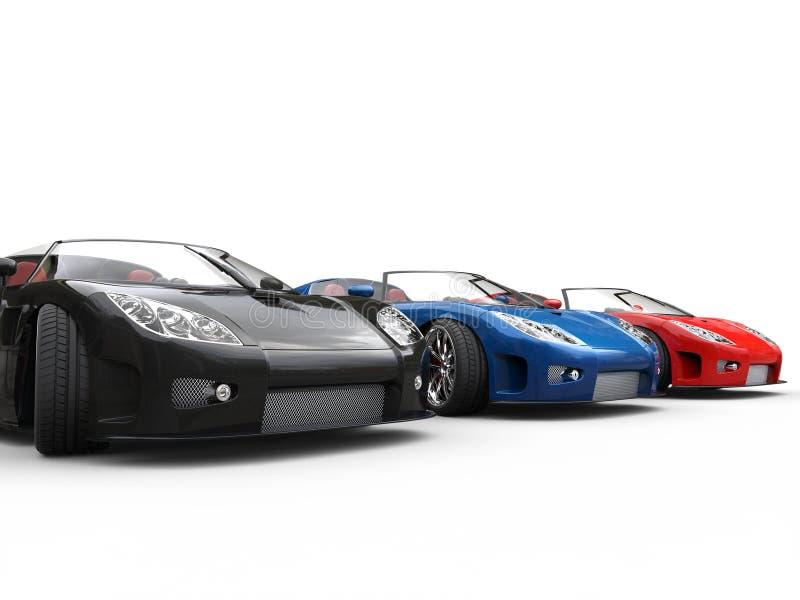 Rząd sportscars zdjęcie stock
