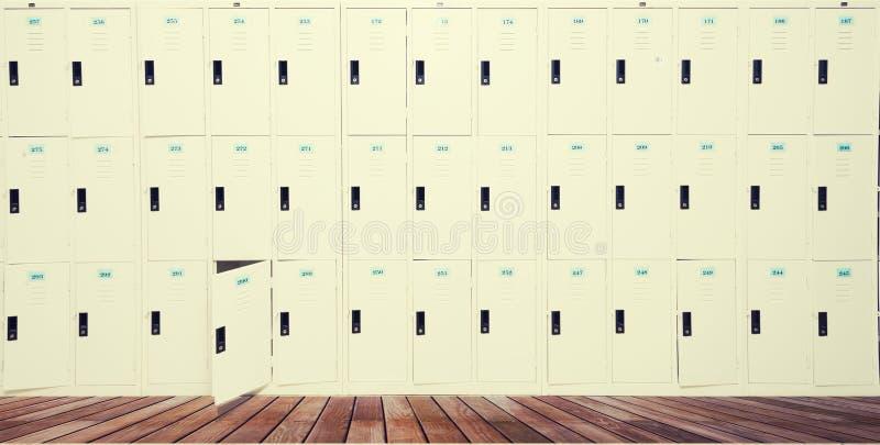 Rząd Stare szafki W szkole ilustracji