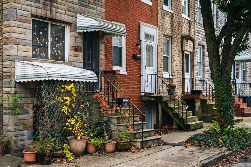 Rząd stwarza ognisko domowe w Remington, Baltimore, Maryland obraz stock