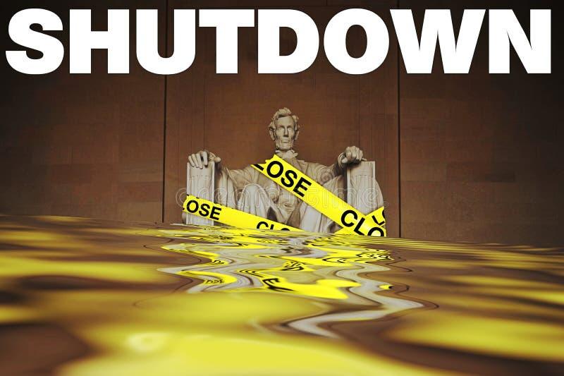 Rządowi zamknięcia w Stany Zjednoczone royalty ilustracja
