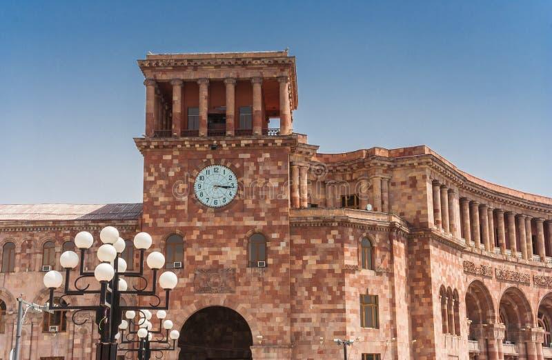 Rządowy budynek przy republika kwadratem w Yerevan obrazy stock