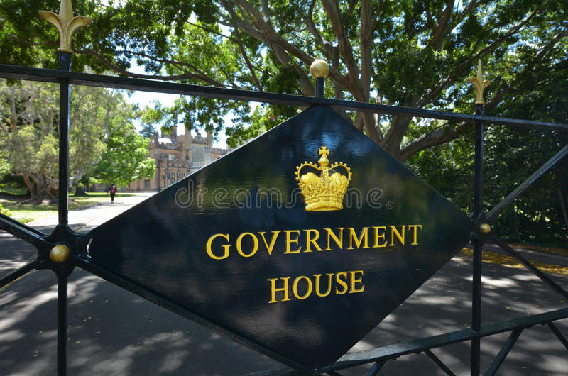 Rządowy dom w Sydney Australia zdjęcia royalty free