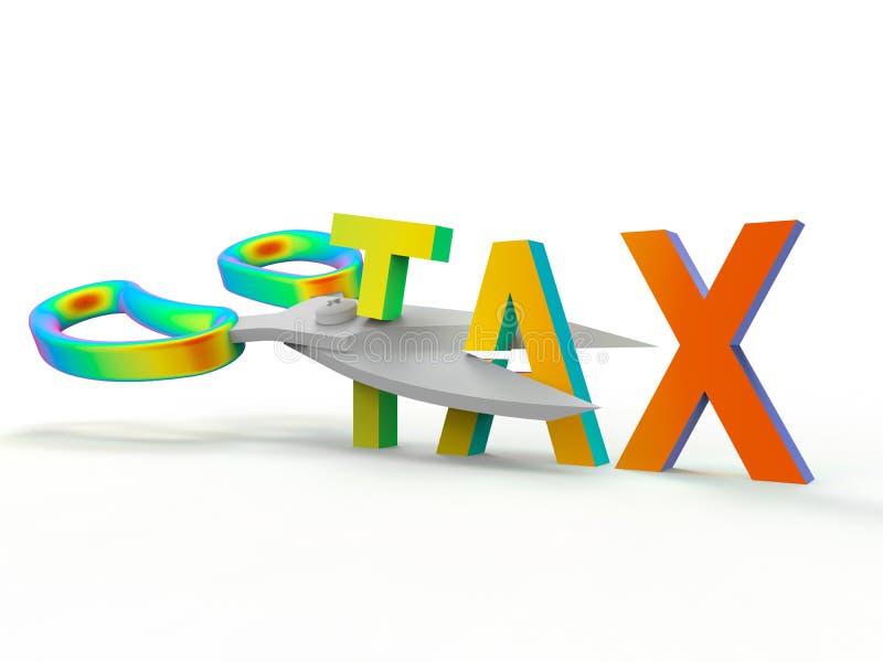 Rządowy fiskalny relaks - tęcza kolory ilustracja wektor