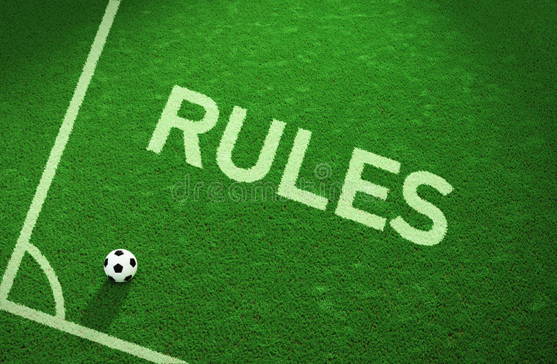 Rządzi boisko do piłki nożnej obrazy royalty free