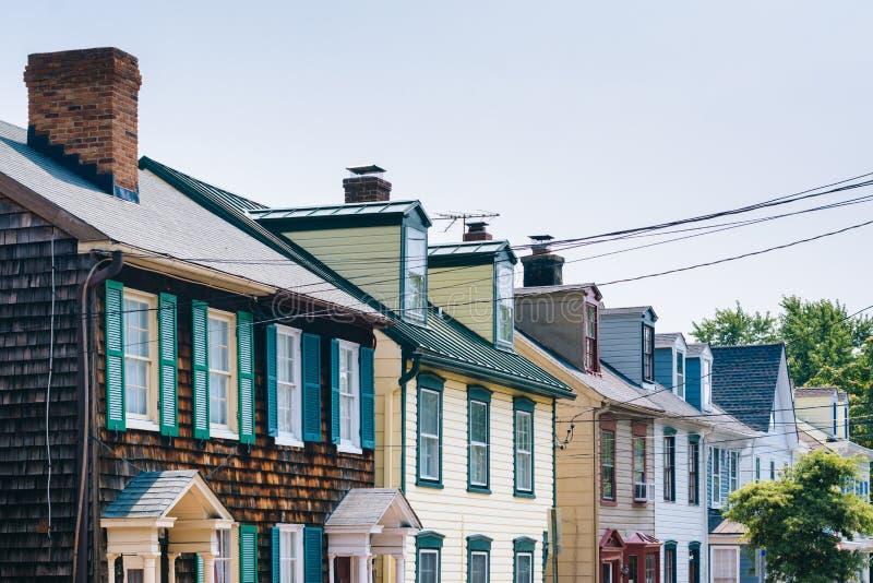 Rzędów domy w Annapolis, Maryland obrazy stock
