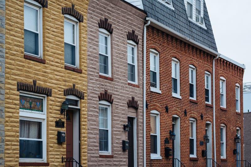 Rzędów domy w kantonie, w Baltimore, Maryland obraz royalty free