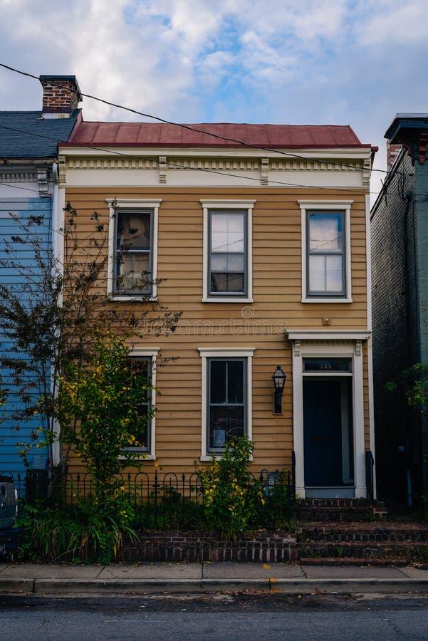 Rzędu dom w Aleksandria, Virginia zdjęcia royalty free