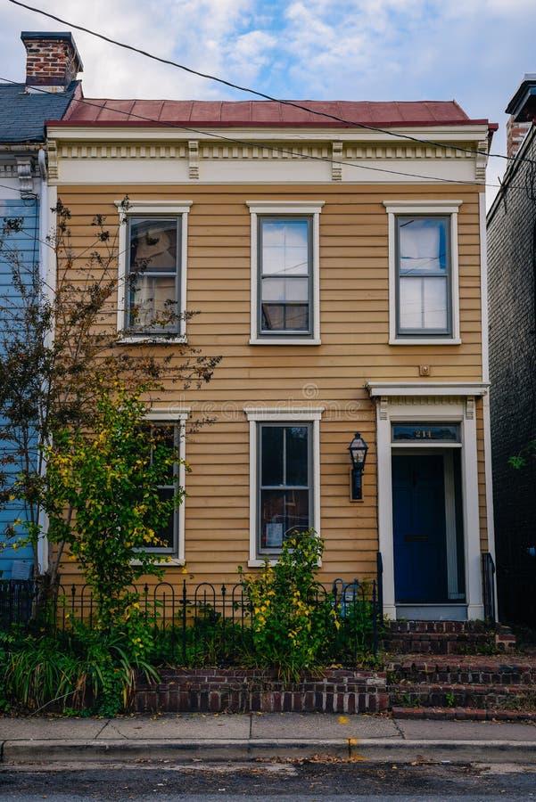 Rzędu dom w Aleksandria, Virginia fotografia royalty free