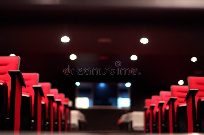 Rzędy siedzenia Theatre & kino obrazy royalty free