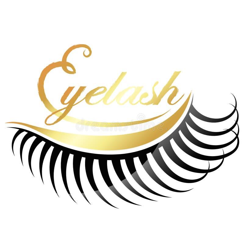 Rzęsa salonu złoty symbol royalty ilustracja