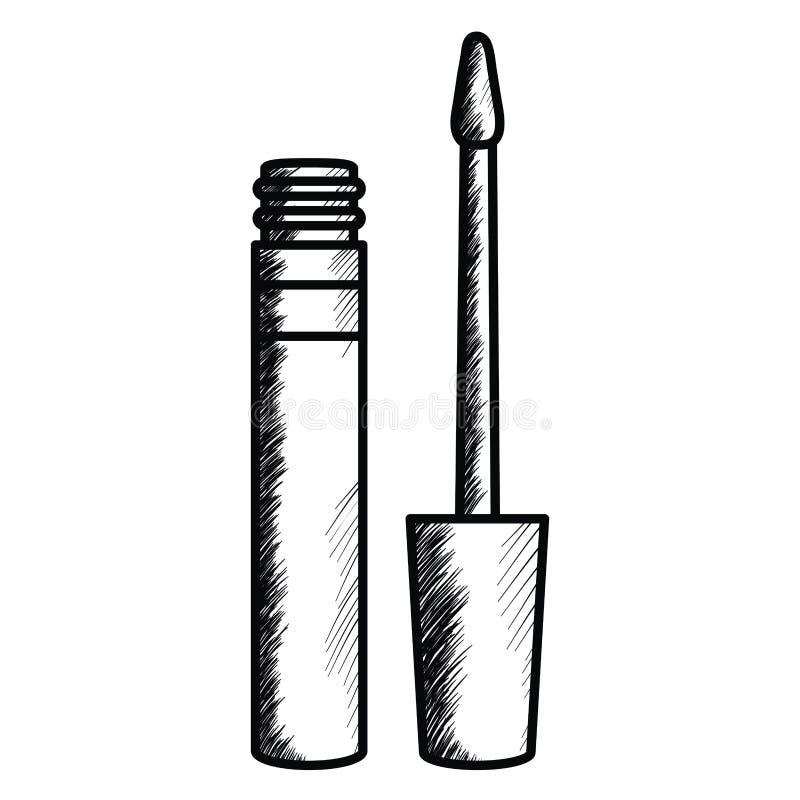 Rzęsa uzupełnia rysunkową ikonę ilustracja wektor