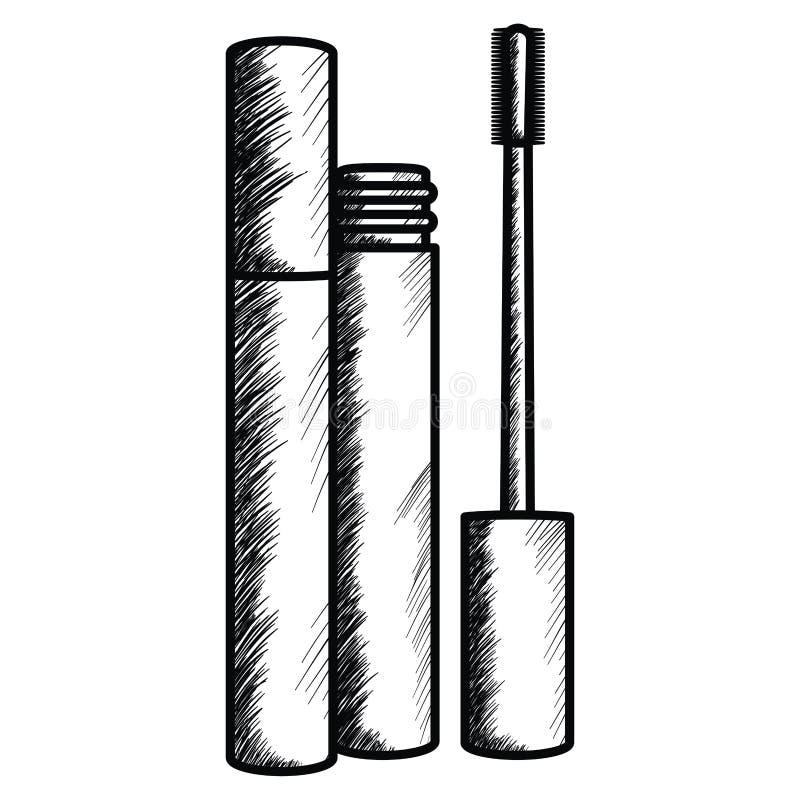 Rzęsa uzupełnia rysunkową ikonę royalty ilustracja