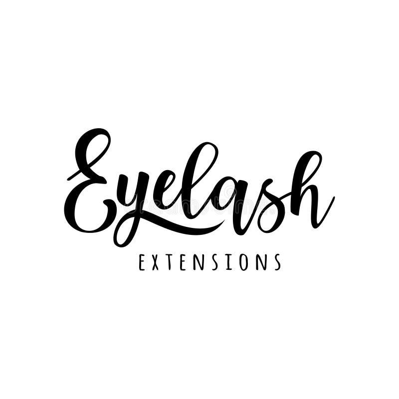 Rzęsy rozszerzenia logo ilustracji