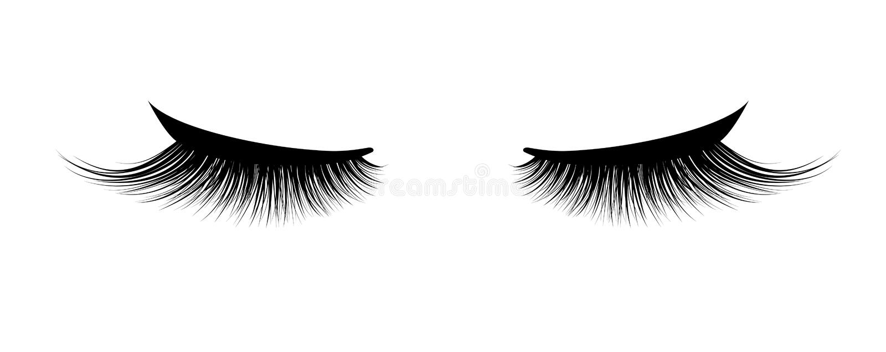 Rzęsy rozszerzenie Piękny makijaż Gęsta rzęska Tusz do rzęs dla pojemności i długości royalty ilustracja