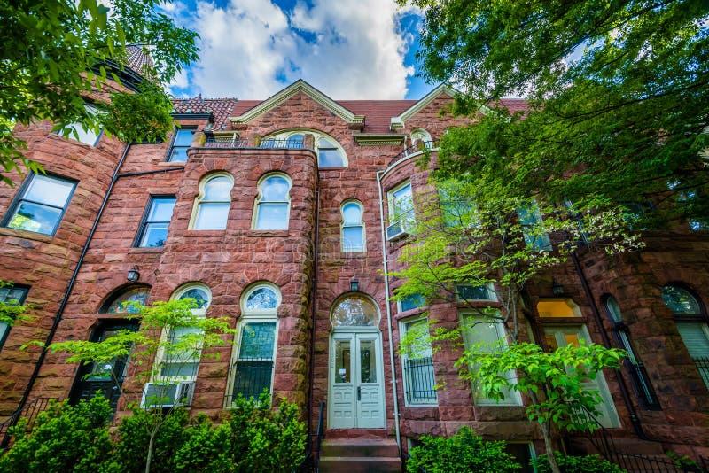 Rz?d?w domy w Bolton wzg?rzu, Baltimore, Maryland zdjęcia royalty free