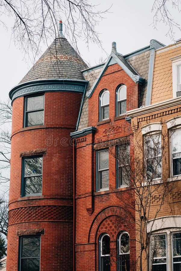 Rz?d?w domy w Wzg?rze Kapitolu, Waszyngton, DC zdjęcie royalty free