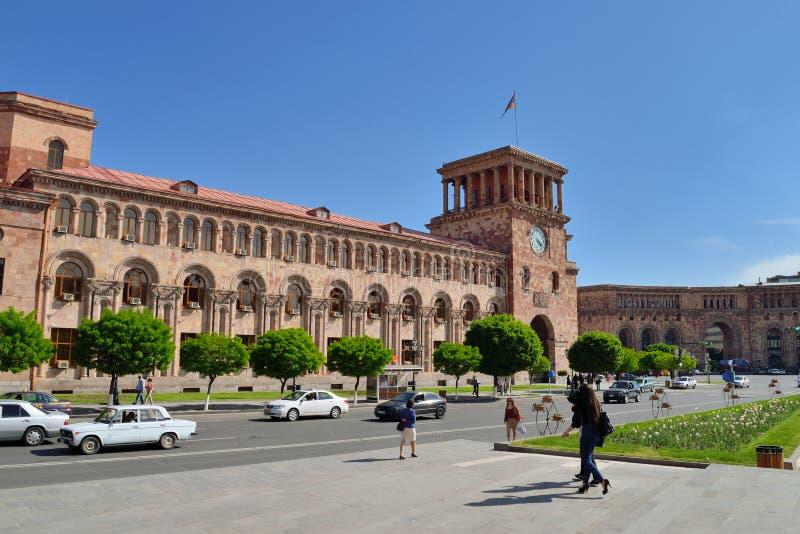 Download Rządowy Dom, Yerevan, Armenia Obraz Stock Editorial - Obraz złożonej z traffic, flaga: 53775349