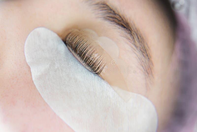 Rz?sy rozszerzenia procedura Kobiety oko z d?ugimi rz?sami zdjęcia royalty free