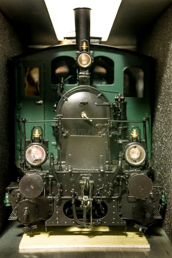 Rzadka wzorcowa lokomotywa w skrytki pudełku, przód zdjęcia royalty free