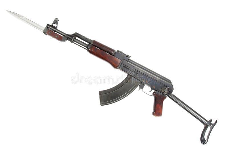 Rzadki pierwszy wzorcowy AK - 47 karabin szturmowy odizolowywający na bielu zdjęcia stock