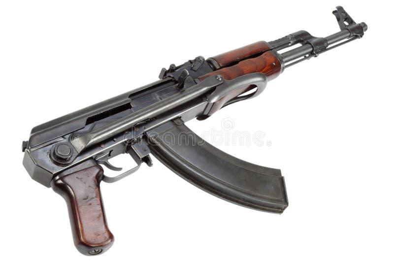 Rzadki pierwszy wzorcowy AK - 47 karabin szturmowy odizolowywający na bielu obrazy royalty free