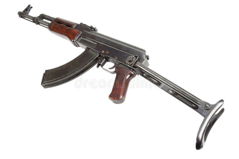 Rzadki pierwszy wzorcowy AK - 47 karabin szturmowy odizolowywający na bielu obrazy stock