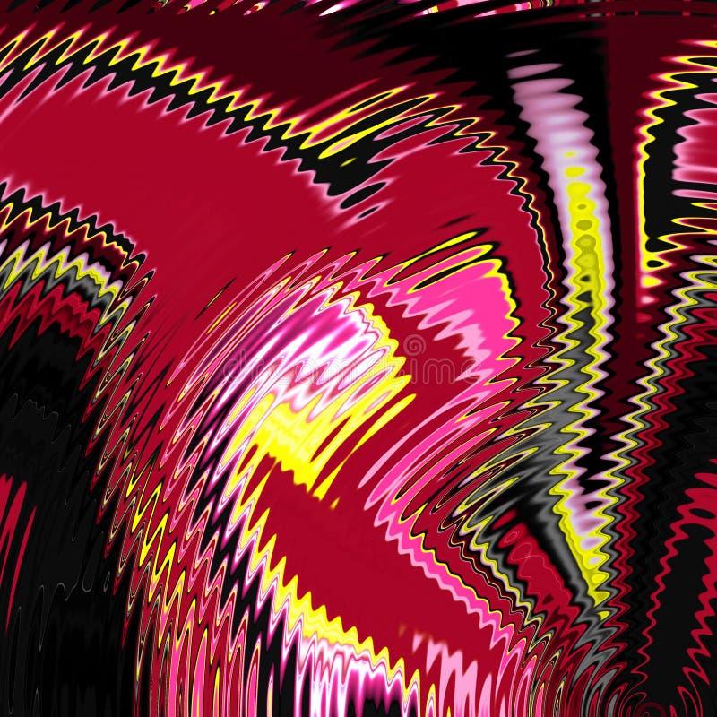 Rzadkopłynna dymiąca czerwona częstotliwość kształtuje, grafika, abstrakcjonistyczny tło ilustracja wektor