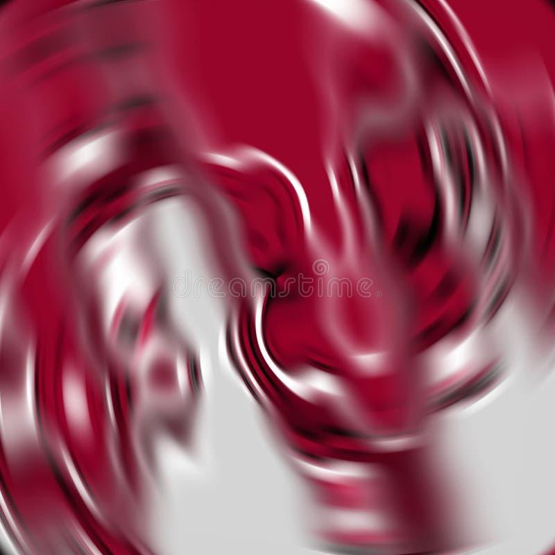 Rzadkopłynni dymiący biali czerwoni kształty, grafika, abstrakcjonistyczny tło ilustracja wektor