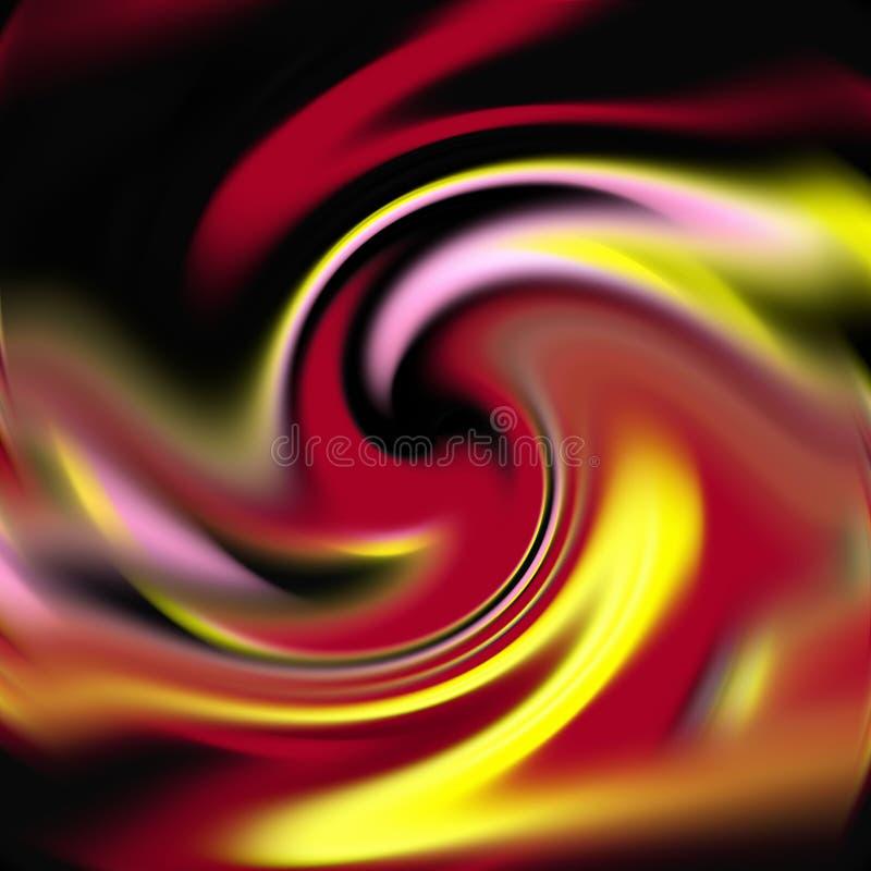 Rzadkopłynni dymiący czerwoni żółci ciemni kształty, grafika, abstrakcjonistyczny tło ilustracja wektor