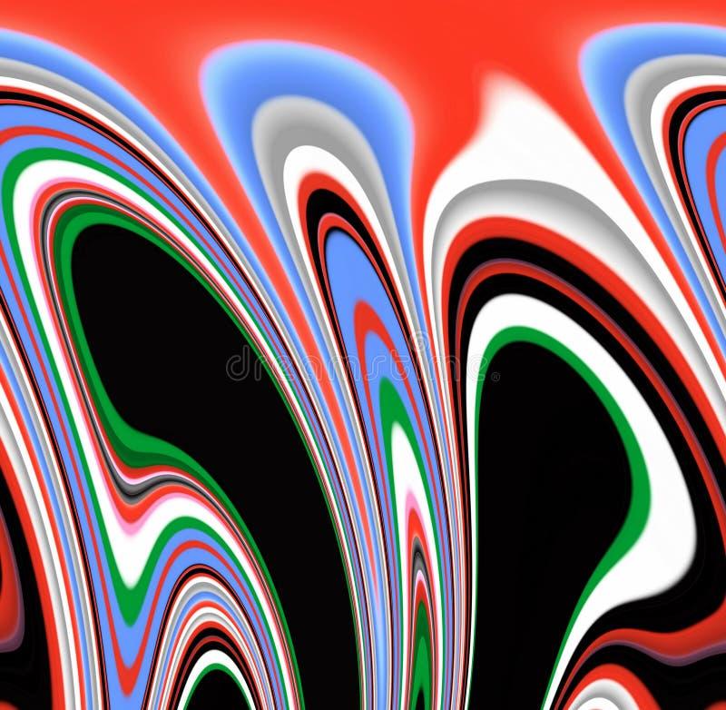 Rzadkopłynni dymiący kolorowi kształty, grafika, abstrakcjonistyczny tło royalty ilustracja