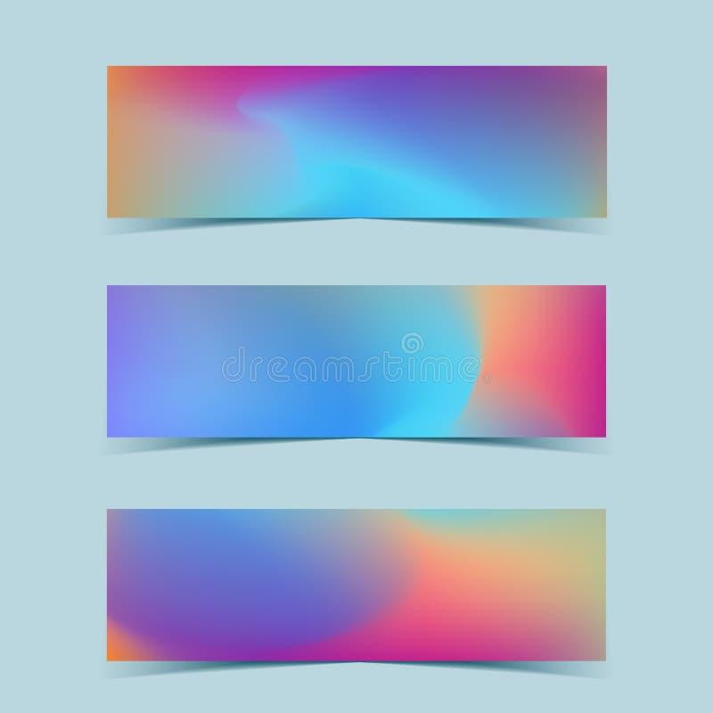 Rzadkopłynni kolorowi sztandary ustawiający wektor ilustracja wektor